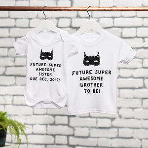 Future Super Sister Brother To Be Clothes Set