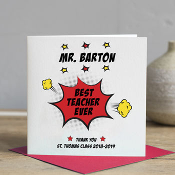 Superhero Teacher Card