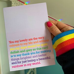 Very Colours To My Life : Rainbow Card For Friend