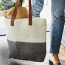 Fair Trade Handmade Felt Ombre Tote Shopper Bag