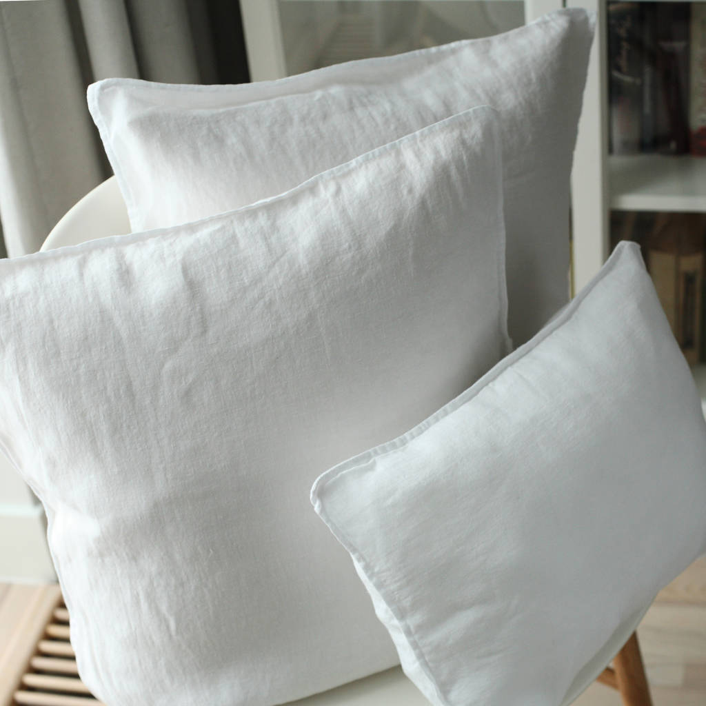 Stone Washed Linen Decorative Cushion Covers By Linenme