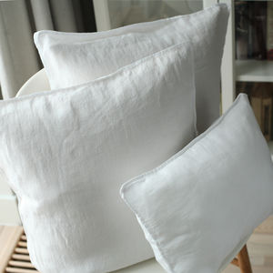 Stone Washed Linen Decorative Cushion Covers - cushions