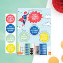 Personalised Superhero Invites With Sticker Activity