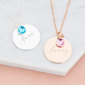 Khloe Personalised Disc Necklace - necklaces & pendants
