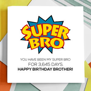 Personalised Super Brother Birthday Card - birthday cards