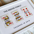 Personalised Family Names Vintage Playing Cards Print