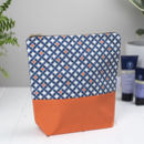 Safiya Large Wash Bag, Tall Toiletry Bag