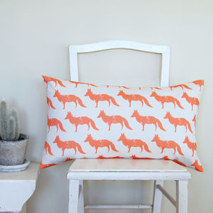 Large Rectangle Fox Cushion - living room