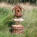 Meadow Vale Personalised Bird House And Garden Planter