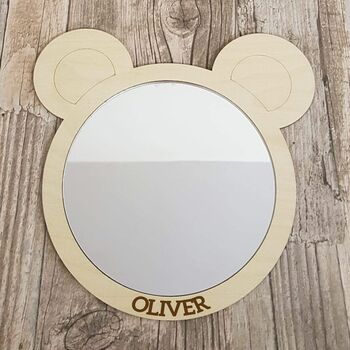 Personalised Childrens Teddy Bear Mirror