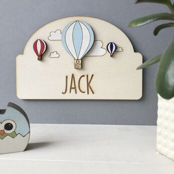 Personalised Hot Air Balloon Door Plaque