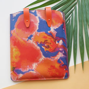 'Tropical Citrus' Leather iPad / Tablet Case - summer sale