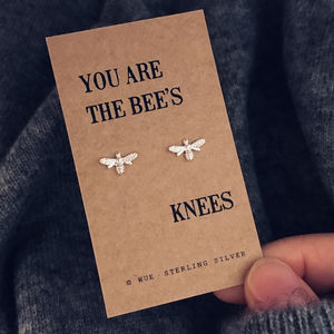 Bees Knees Silver Earrings - sale