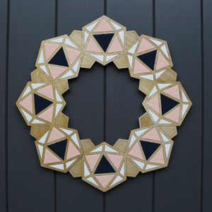 Geometric Christmas Wreath