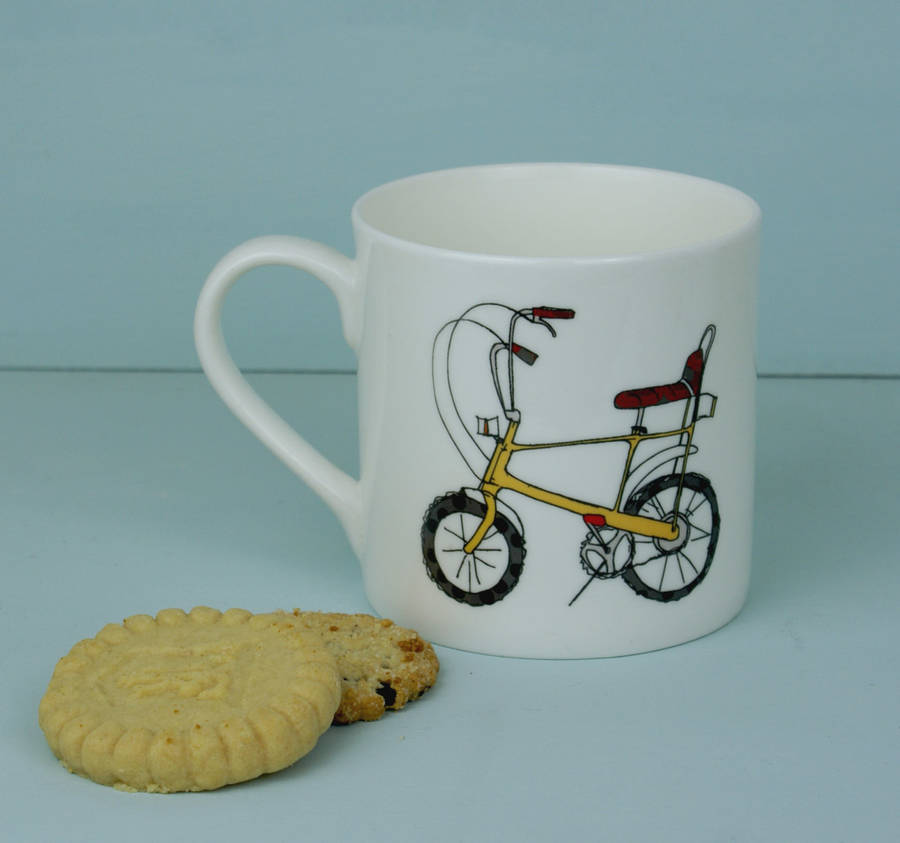 Gift For Fathers Day Mug Bike Design