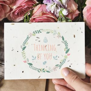Plantable Thinking Of You Card Grows Into Flowers - sympathy & sorry cards