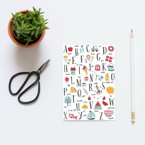 A5 Alphabet Notebook - office & study
