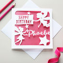 Personalised Fairies Birthday Card
