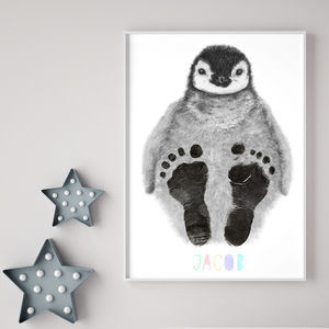 Personalised Baby Penguin Footprint Kit - personalised