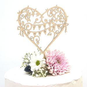 Wedding Cake Topper Wooden Garden Party - table decorations