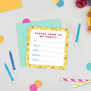 Animal Birthday Bunch Set Of Mini Party Invitations
