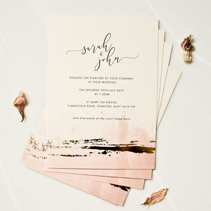 Watercolour Foil Wedding Invitations