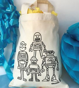 Robots Doodle Party Bags To Colour In - children's parties