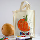 Colour In Halloween Treat Bag