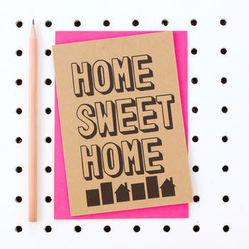'Home Sweet Home' New Home Housewarming Card