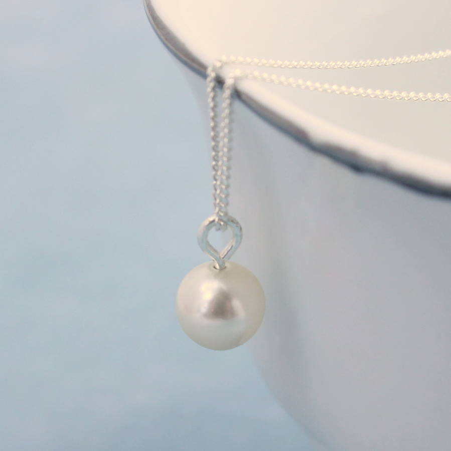 Classic pearl drop pendant by joy by corrine smith classic pearl drop pendant aloadofball Choice Image