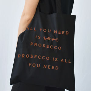 'All You Need Is Prosecco' Christmas Tote Bag - bags & purses