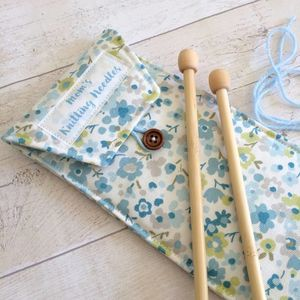 Personalised Floral Knitting Needle Case