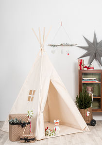 Natural Cotton Canvas Teepee - tents, dens & teepees