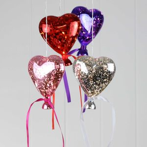 Hanging Glass Heart Filled With Magical Fairy Lights - pendant lights