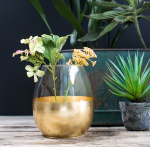 Gold Dipped Vase - home sale