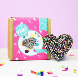Glitter Heart Badge Making Kit - creative kits & experiences
