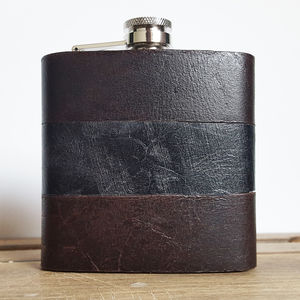 Personalised Mixed Leather Hip Flask - view all father's day gifts