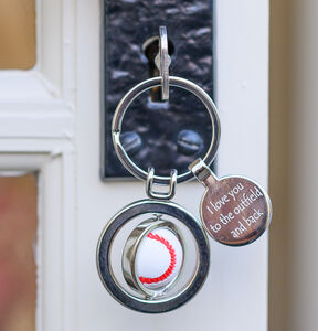 Personalised Spinning Baseball Keyring