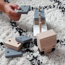 Wooden Truck With Rectangular Stacking Blocks