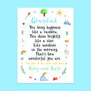 Personalised Dad Grandad Verse Card