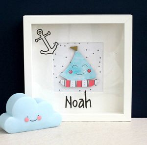 Personalised Baby Boat Picture
