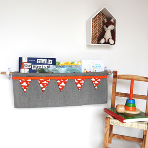 Linen Book Sling Storage - children's room