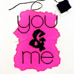 'You And Me' Modern Cross Stitch Mini Kit
