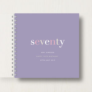 Personalised 70th Birthday Memory Book