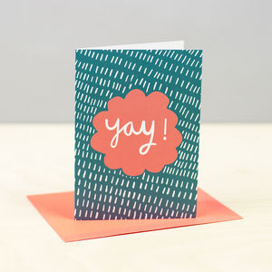 'Yay!' Card - congratulations cards