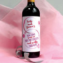 Personalised New Home Wine Labels