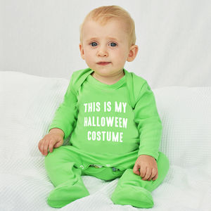 'Halloween Costume' Halloween Baby Romper Sleepsuit - summer sale