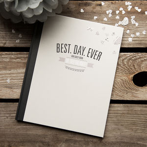 'Best Day Ever' Wedding Guest Book - guest books