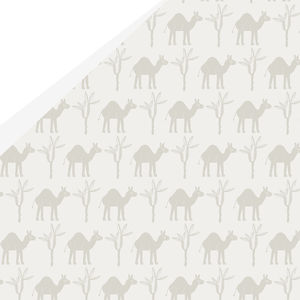 Luxury Camel Gift Wrap And Letterpress Tags - wrapping paper