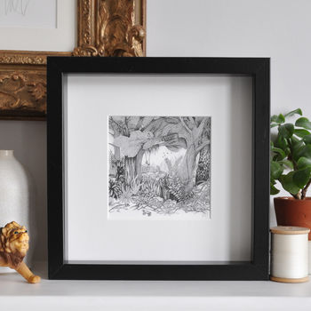 Framed Jungle Print With Animals